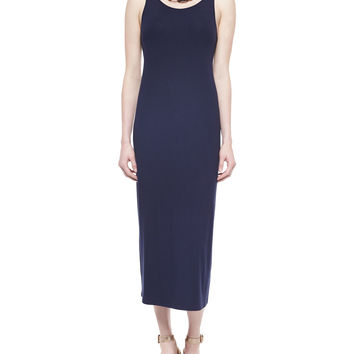 Sleeveless Jersey Long Dress, Petite, Size:
