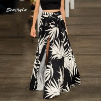 Penelope Patterned Maxi Skirt