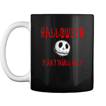 For women Scary Skull Face Nightmare Halloween outfit party costumes Mug