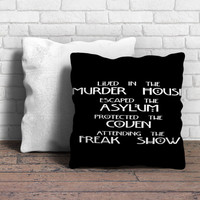 American Horror Story Cover Pillow | Aneend