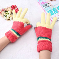 6 Colors New Women Winter  Gloves Cute Mittens Ladies Fingers Gloves for Phone Gloves femme Mittens