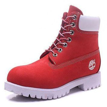 Women's Timberland Icon 6-inch Premium Nubuck Water Red Waterproof Boots