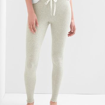 Stripe ribbed sleep leggings | Gap