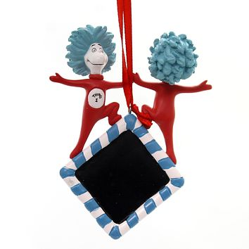 Holiday Ornaments Suess Thing 1, Thing 2 Personalize Resin Ornament