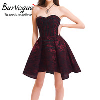 Burvogue  Steampunk Corset Dress  Evening Waist Control Corsets Cotton Lace Steel Boned Overbust Bustier Gothic Dress