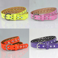 MultiColor Pin Buckle Rhinestone Waist Belt