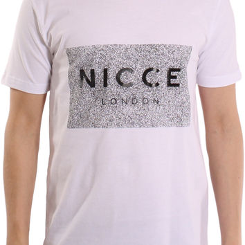 NICCE London White Noise Box Crew Neck Short Sleeve T-Shirt