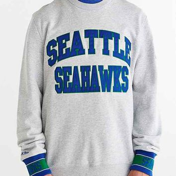 Mitchell & Ness Seattle Seahawks Team Sweatshirt- Grey