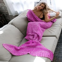 Winter Women Mermaid air conditioner Blanket a12873