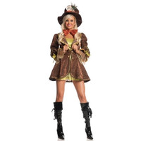 Mystery House Womens Mad Hatter Halloween Party Wonderland Costume