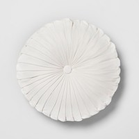 Pleated Velvet Round Throw Pillow - Opalhouse™