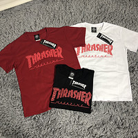 Thrasher 2019 new street fashion men and women round neck half sleeve T-shirt