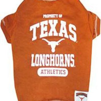 ESBHJ2 Texas Longhorns Pet Shirt XS