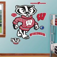 Fathead Wisconsin Badgers ''Bucky Badger'' Wall Decals