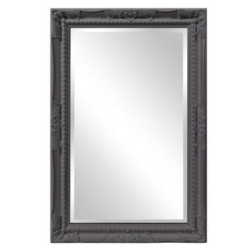 "Howard Elliott Queen Ann Rectangular Glossy Charcoal Mirror 24"" x 36"" x 1"""