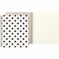 kate spade new york Large Spiral Notebook - Black Décor Dots (So Well Composed)