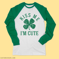 Kiss Me St Patty's Long Shirts