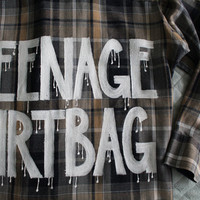 """5 Seconds of Summer 5SOS / One Direction Inspired """"TEENAGE DIRTBAG"""" Flannel L Men"""