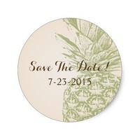 Pineapple Save The Date Sticker