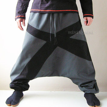 Harem Pants - Aladdin Trousers - Afghani Pants - Alibaba Pants - Men - Women - Cotton