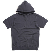 Stock Short Sleeve Hoody Charcoal