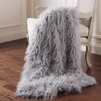 Aurora Home Mongolian Lamb Faux Fur Throw | Overstock.com Shopping - The Best Deals on Throws