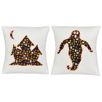 Spooky Spirit Haunted House Throw Pillows