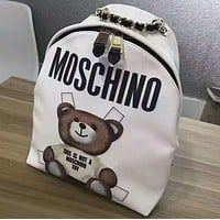 """MOSCHINO"" Tide brand fashion leisure sports laptop bag shoulder book F"
