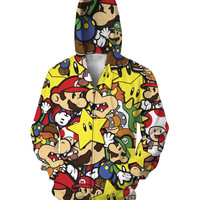 Super Mario Zip Up Hoodie