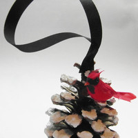 Big Sale Cardinal Pine Cone - Ornament