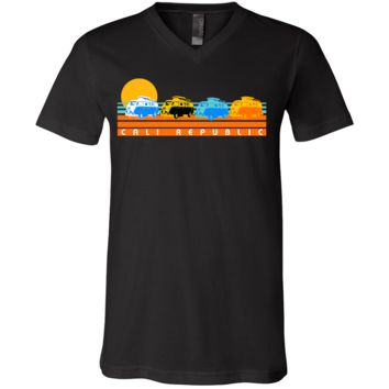 Cali Republic Vintage Van Sunset Asst Colors V-Neck