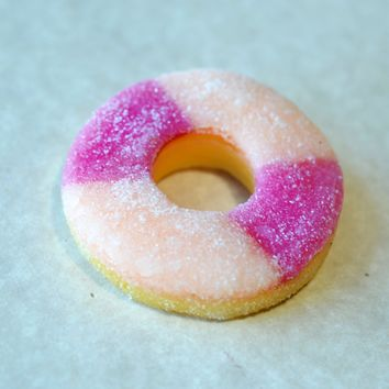 Peach Ring Gummy Miniature Food Magnet, Polymer Clay