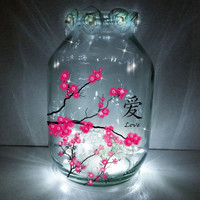 Hand painted Chinese Lantern / candle holder / night light.....MADE TO ORDER.