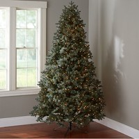Faux Blue Spruce Lighted Tree