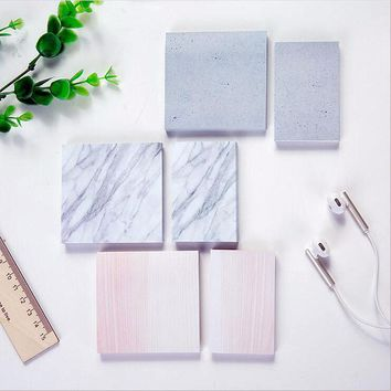 Kawaii Stone Memo Pad  Stationery Office Supplies Post It Diy School Stationery Scrapbooking Sticky Notes Cute Planner