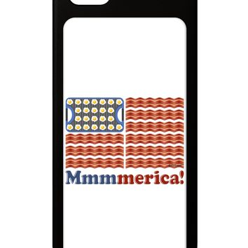 American Breakfast Flag - Bacon and Eggs - Mmmmerica iPhone 5 / 5S Grip Case  by TooLoud