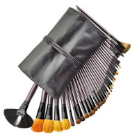 Professional Cosmetic Makeup Brush Set Thirty-Four Piece (Black)