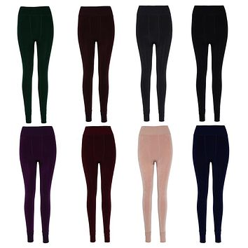 Women's Winter Warm Elastic Stretchy Velvet Linned High Waist Tights