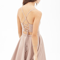 FOREVER 21 Crisscross Tie-Back Dress