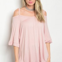 C74-B-2-MT2033 DUSTY PINK TOP 2-2-2