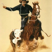 Western / Rodeo Cowboy Southwest Art Portrait Painting in Oil - Portraits Artist Rick Timmons