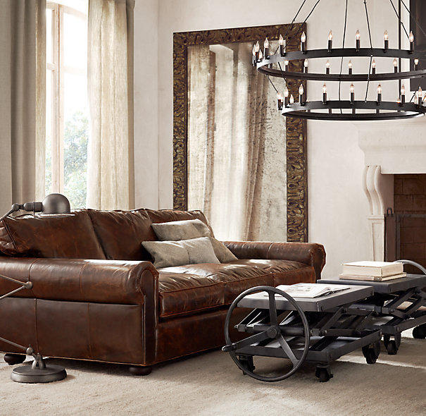 Lancaster Leather Sofas From Restoration Hardware Home