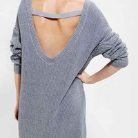 Kimchi Blue Scoop-Back Sweater Dress- Grey M
