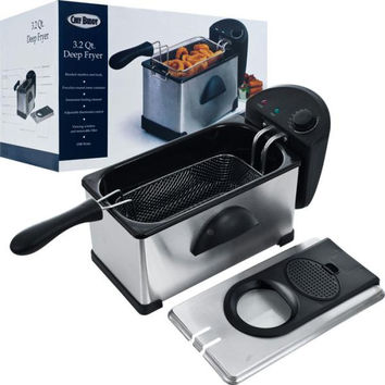 Chef Buddy  Electric Deep Fryer Stainless Steel - 3.20 Quart