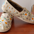 $104.00 Crazy Daisy TOMS customized in your size by PurpleLizardStudio