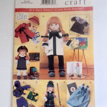 Vogue Craft 9442 Sewing Pattern Easy Outfits Fits 18 inch Girl Doll Clothes New Factory Fold Uncut