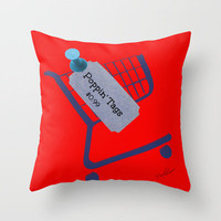 Poppin Tags-Thrift Shop Song-Macklemore Throw Pillow by Laura Santeler | Society6