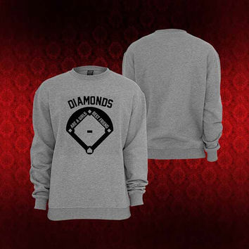 diamonds sweater Sweatshirt Crewneck Men or Women Unisex Size