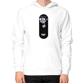 Mysterious Goth Girl Hoodie (on man) Shirt