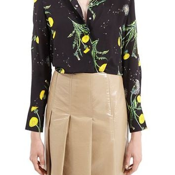 Women's Topshop Unique 'Windermere' Floral Print Silk Shirt,